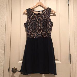 Nordstrom Lace Dress NWT Medium Blue Mini New